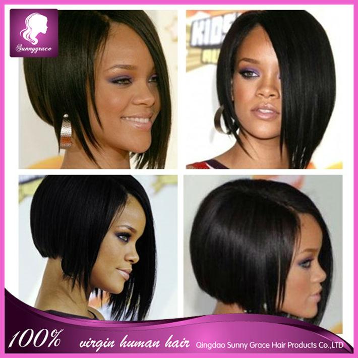 Human Hair Bob style Wigs For Black Women bob Lace front Bob Wigs ...