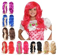 6 Color ! Synthetic Women's Long Wavy Full Wigs Fancy Dress Curly Fake Hair Blonde Black  For Party(NWG0HD60441)
