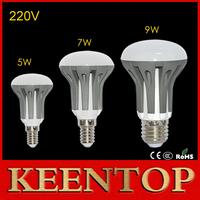 10Pcs High Lumen E14 E27 Dimmable LED Lamps 5W 7W 9W LED Lighting R39 R50 R63 85V-265V Chandelier Pendant Light Solar Spotlight