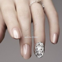 Promotion!!!2014 New 5 Silver Alloy Plate 3D Hollow Crystal Metal Metallic Rhinestone Full Nail Art Tip 6 Types B16 19498