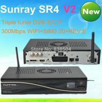 Satellite receiver dm 800se v2 wifi triple tuner / Sunray SR4 v2 SUNRAY4 V2 built-in wifi Sim2.20 sr4 v2 400Mhz CPU