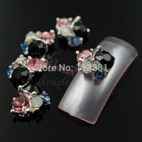 20pcs/lot Irregular Mix Color Pink Blue Black Opal Rhinestones Jewerly Accessories Decor Nail Art Cellphone DIY Design Alloy NEW