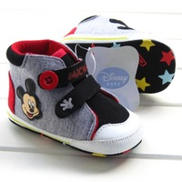 New arrival  first walkers  high cartoon mickey baby boys shoes toddler shoes Free Shipping