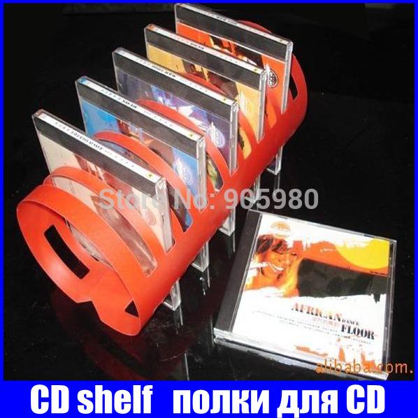 FS/ Folding CD RACK novelty fashion dvd box cabinets stand holder plastic cd storage shelves for room cd rack furniture shelf(China (Mainland))