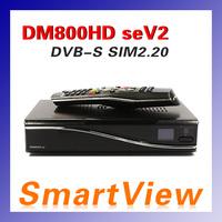 1pc DM800se V2 DVB-S satellite Receiver DM800HD se V2 with SIM2.20 Enigma 2 Linux 1GB Flash 521MB RAM Web browser Free Shipping
