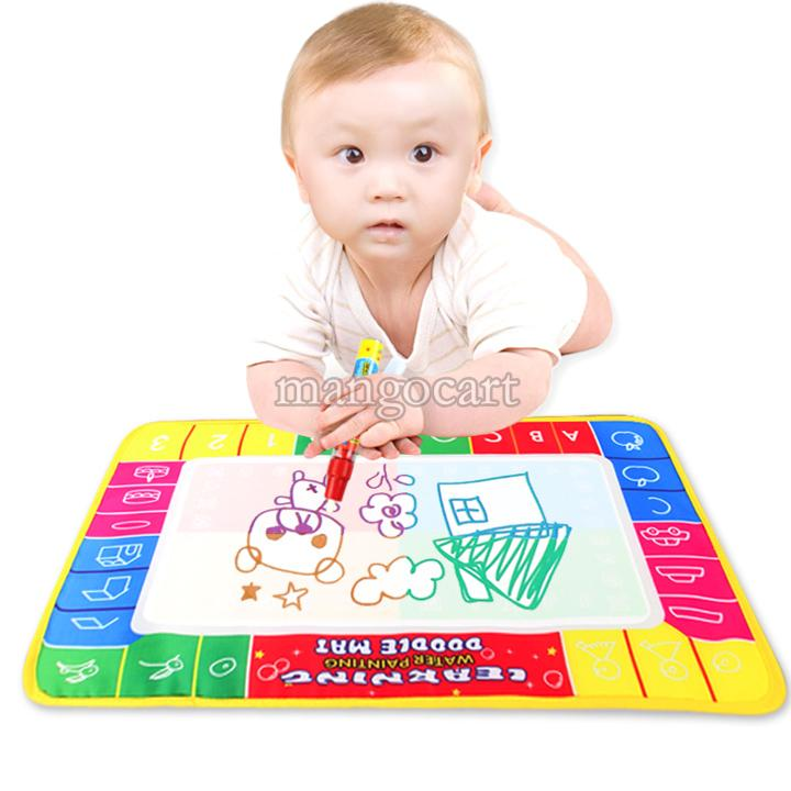 Hot Selling 2014 Baby 45 x 29cm Water Drawing Toys Mat&1 Magic Pen/Water Drawing Board Baby Play Learning & Education b7 19383(China (Mainland))