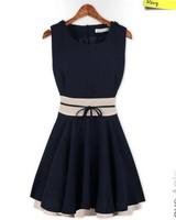 HOT SALE Women Chiffon Cute Lady Office Casual Dress New 2014 Spring Summer Autumn Novelty Party Dresses Vestidos de festa