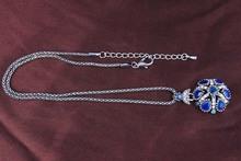 2014 Latest Popular Fashion Jewelry Dubai Antique Silver Retro Petal Shape Womens Size 50 Necklace