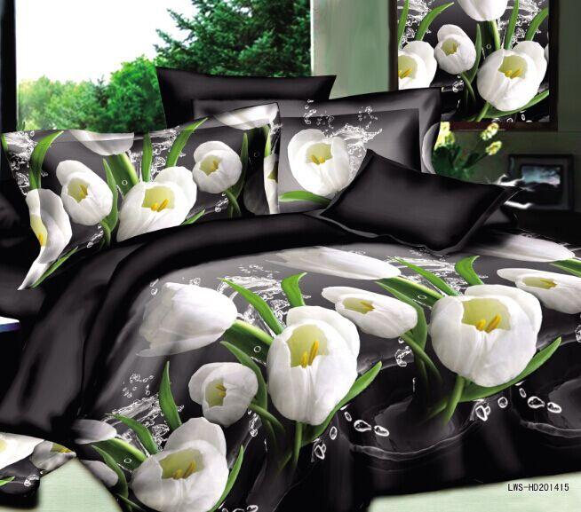 3D bedding sets 4pcs/set duvet cover bed sheet linen set king size bed cover duvet comforter cover clothing for bed lowest price(China (Mainland))