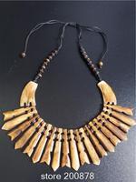 TNL214  Tibetan Yak Bone  Statement Choker Necklace,2014 Spring,Wholesale Ethnic fashion jewelry