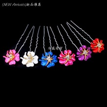 Wholesale 20pcs Lot Women Wedding Bridal Prom Crystal Rhinestone Hair Pins Flower Hair Clips Hair Jewelry Free Shipping