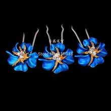 High Quality 20pcs Lot Women Wedding Bridal Prom Crystal Rhinestone Hair Pins Flower Hair Clips Hair