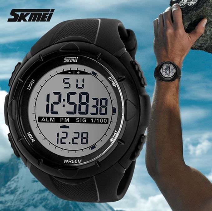 2014 New Skmei Brand Men LED Digital Military Watch, 50M Dive Swim Dress Sports Watches Fashion Outdoor Wristwatches(China (Mainland))