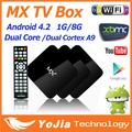 5pcs Original 4 2 2 Dual Core Android TV Box XBMC Midnight MX 1G RAM 8G