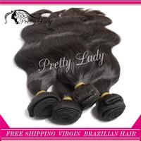 Pretty lady hair 4 pieces/ lot  6A unprocessed Brazilian virgin hair body wave extension virgin hair aliexpress uk free shipping