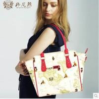 Danny Bear women leather handbags Tote Bag Shoulder bag fashion PU women bag db13611-23
