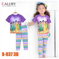 Boys Elsa & Anna Sisters Pajamas Sets Kids Autumn -Summer Clothing Set New 2014 Wholesale Children Frozen Princess Pijamas X-534