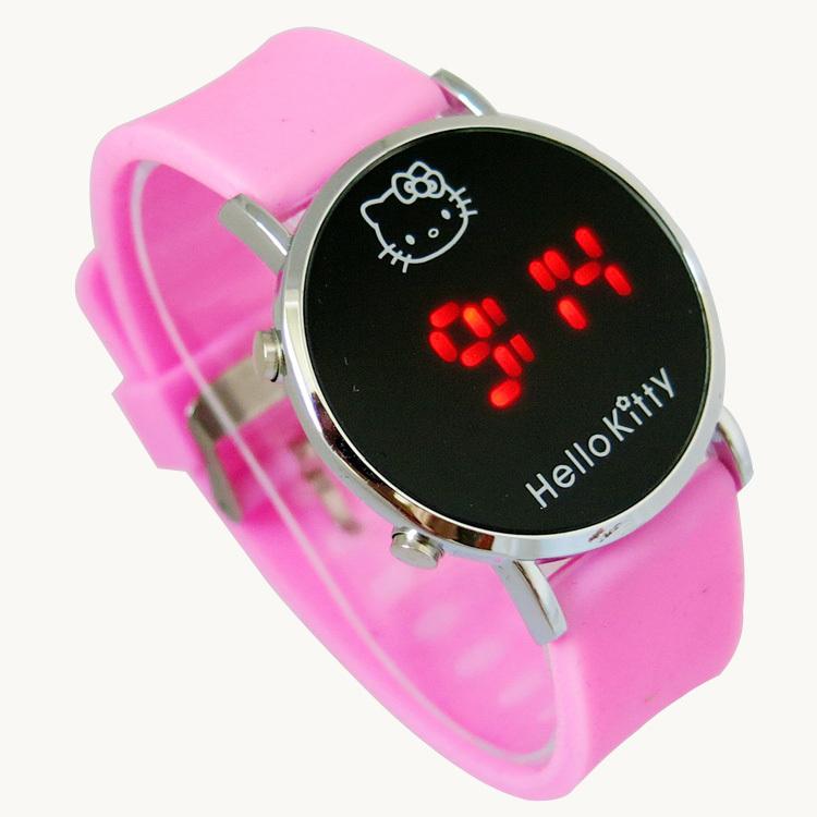 Hot Sale Fashion Cartoon Watch Hello Kitty Watches for Girls Kid Children Casual Silicone Digital Led Quartz Wristwatches Reloj(China (Mainland))
