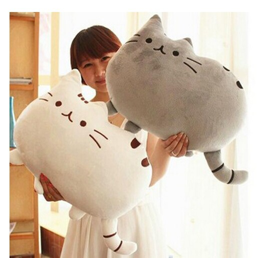 Novelty Soft Plush Stuffed Animal Doll Talking Anime Toy Pusheen cat for Girl Kid Cute Cushion brinquedos birthday Gift 40*30(China (Mainland))
