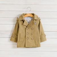 children's clothing boy child autumn trench coat Bear boys hooded windbreaker jacket double-breasted coat C0013