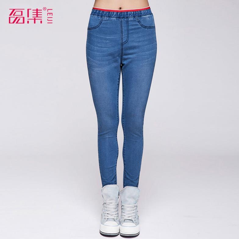 las mujeres polainas stretch azul de algodón demin jeans talla xl s 4xl 6xl alta calidad sexy otoño hasta el tobillo de pantalones de envío gratis