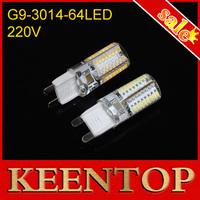 G9 LED Lamps Mini Spotlight 6W SMD3014 64Led Non-polar Crystal Bulb High Lumen Chandelier Pendant LED Light AC220-240V 1Pcs/Lot