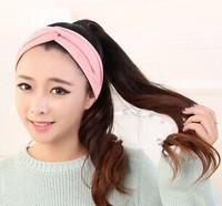 Elastic headband with Europe and the United States temperament hair turban hoop hair hoop net[240936]