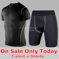 T-Shirt Shorts Men Basketball Suit Training Jersey Football Soccer Jerseys Running Sport Clothing Set Tight Pants Compression