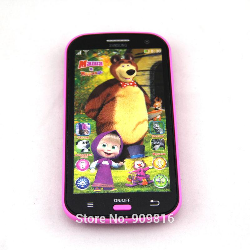 Talking Masha and Bear Learning & education Russian Language Baby Mobilephone Electronic kid's Toy phone No Original Box(China (Mainland))