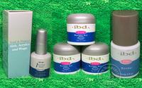 5pcs Acrylic Nail Art UV Gel nail saloon 3 colors IBD Builder 2oz / 56g nail gel art set +1pc Intense Seal+ 1pc Primer  Bonder