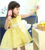 2014 lovely two colors elegant dresses for girls of  toddler dress for summer fashion wear sleeveless princess dresses for girls