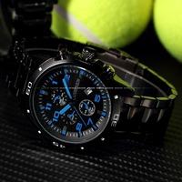 2014 Curren Brand New Blue Hands Auto Date Analog Hours Men Full Steel Watch  Men Sports Watches Quartz Men's Military Watches