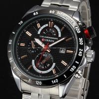2014 Curren Luxury Brand Clock Men Sports Quartz Watch Fashion Men Military Full Stainless Steel Wrist Watches relogio masculino