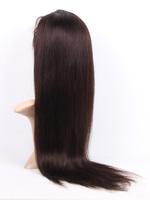 5A #2 Dark Brown 14-30 Inches Straight Full Lace Wigs Handmade 100% Brazilian Virgin Real man Hair Full Head Customized