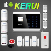 Free shipping! Keypad Dual Net Touch TFT color Display GSM PSTN Dual Net Home Security Alarm System Alarm Russian French Spanish