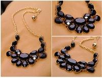 Candy Water Drop Flower Gem Shourouk Collar Choker Statement Necklaces & Pendants New 2014 Fashion Jewelry Women Wholesale N146