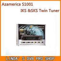 Free Shipping satellite Receptor Azamerica S1001 hd iks sks nagra 3 decoder with IPTV South America