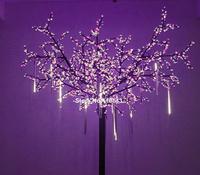 Hot Sale 2014 New 50CM Meteor Shower Rain Tubes Warm White LED Light For Wedding Tree Decoration Lamp 100-240V/EU B16 SV000014