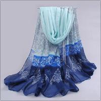 New 2014 Fashion Women Scarf Winter Accessories Muslim Hijab Shawl Islamic Wraps China Wholesale Print Floral 180*100CM