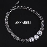 2015 Black Crystal Collar Necklace for Women Vintage Choker Statement Necklaces & Pendants Fashion Jewelry Bijoux