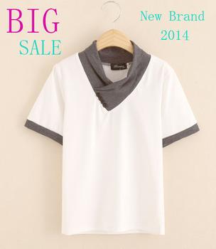 Большая распродажа дети тенниска мальчиков одежда 2015 бренд мода топы лето с коротким рукавом хлопок дети одежда белого цвета
