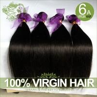6A Unprocessed virgin Peruvian hair straight 3/4pcs lot Peruvian hair bundles cheap human hair extensions wholesales hair weave