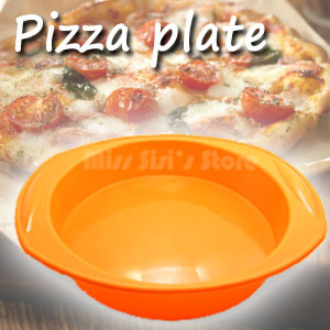 Big round silicone Pizza pan/plate molds silicon molds for cakes baking tools fondant cake plate decorating tools free shipping(China (Mainland))