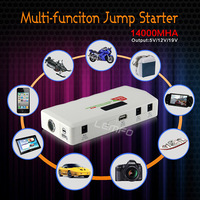 Multi-Function Emergency Car Jump Starter 14000mAh 12V Battery Charger For Mobile ipad Laptop Power Bank External  Battery