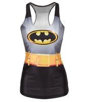 best quality Summer new 2014 women t-shirt batman  adventure time Friends GFT camisole  SALE Drop Shipping