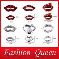 Lips Alloy Nail Art,20pcs 3dCrystal Rhinstone Nail Decorations,DIY Designed  Stylish Nail Beauty Nail Jewelry Accessories Supply