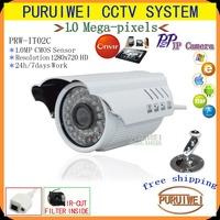 "1/4""CMOS 1280x720 HD 36pcs IR LEDS 720P 1.0M Network IP Camera support ONVIF Outdoor IR CUT Night vision security surveillance."