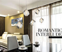 Dining room pendant light modern crystal lamp pendant lamps bar g4*5 LED bulbs 62cm Plate indoor lighting diamonds pendant lamps