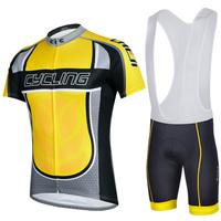 2014 New Bike Team Men Cycling Suit Jersey+Bib Shorts Bicycle set Riding Sportswear S-XXXL