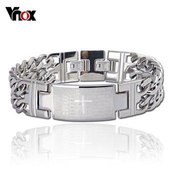 Мода мужчины браслеты и браслеты из нержавеющей стали браслет с крестом дизайн ювелирных ...